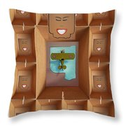 The Queens Pictures Throw Pillow