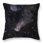 The Question Mark Nebula In Orion Throw Pillow