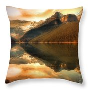 The Quiet Golden Glow Throw Pillow