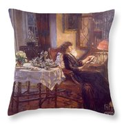 The Quiet Hour Throw Pillow by Albert Chevallier Tayler