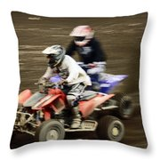 The Race To The Finish Line Throw Pillow