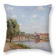 The Railway Bridge Throw Pillow