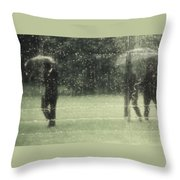 The Rain Shower Throw Pillow