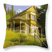 The Rainbow House Throw Pillow