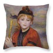 The Rambler Throw Pillow by Pierre Auguste Renoir