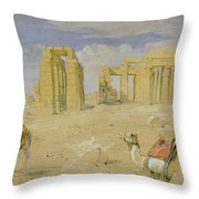 The Ramesseum At Thebes Throw Pillow