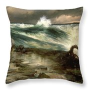 The Rapids Above Niagara Throw Pillow