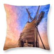 The Ravages Of Time Throw Pillow
