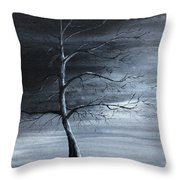 The Raven Piece 1 Of 2 Throw Pillow by Gray  Artus