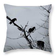 The Raven Tree Throw Pillow