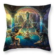 The Rebirth Of Venus Throw Pillow