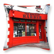 The Red Barber Shop Throw Pillow