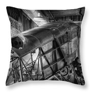 The Red Barn Of The Boeing Company IIi Throw Pillow
