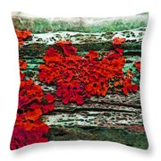 The Red Clouds Throw Pillow