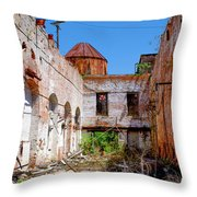 The Red Fan Throw Pillow
