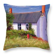 The Red Milk Churn Throw Pillow by Anthony Rule