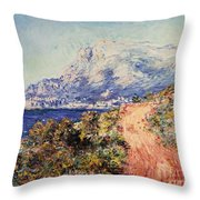 The Red Road Near Menton Throw Pillow