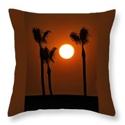 The Red Sunset  Throw Pillow