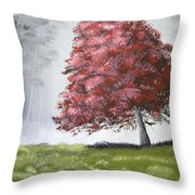 The Red Tree Throw Pillow