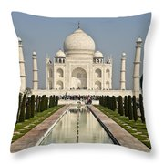 The Reflecting Pool In The Charbagh Or Throw Pillow