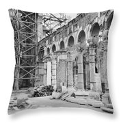 The Remains Of The Church Of St Throw Pillow