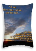 The Resurrection Throw Pillow by Glenn McCarthy Art and Photography