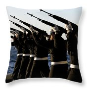 The Rifle Detail Aboard Throw Pillow