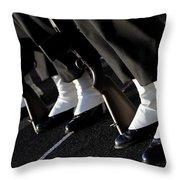 The Rifle Detail Aboard Uss Carl Vinson Throw Pillow