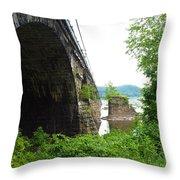 the river in Pennsylvania Throw Pillow