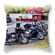 The Riverside Barr And Grill - Easton Pa Throw Pillow