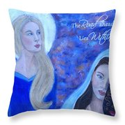 The Road Ahead Lies Within Throw Pillow