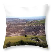 The Road Is Long Throw Pillow