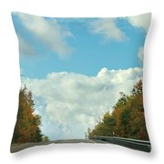 The Road To Heaven Throw Pillow