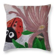 The Rock And A Soft Place Throw Pillow