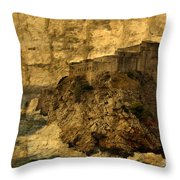 The Rock In Dubrovnik Throw Pillow