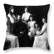 The Romanovs, Russian Tsar With Family Throw Pillow