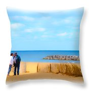 The Romantic Beach Throw Pillow