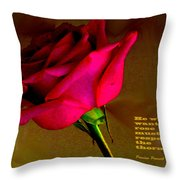 The Rose And Thorn Throw Pillow