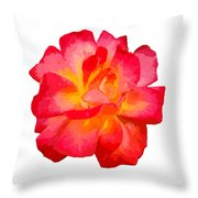 The Rose Patchwork Throw Pillow