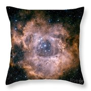 The Rosette Nebula Throw Pillow by Charles Shahar