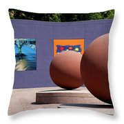 The Rounds Of Pershing Square Throw Pillow