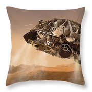 The Rover And Descent Stage For Nasas Throw Pillow