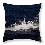 The Royal Navy Mine Countermeasures Throw Pillow