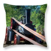 The Rumley Powering The Saw Throw Pillow