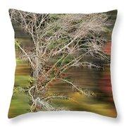 The Running Tree Throw Pillow