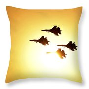 The Russian Knights Display Team Throw Pillow