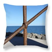 The Rust And The Sea Throw Pillow