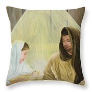 The Savior Is Born Throw Pillow