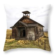 The School House Throw Pillow