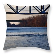 The Schuylkill River At Bridgeport Throw Pillow